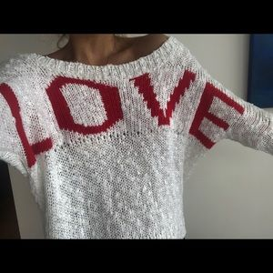 LF off the shoulder sweater